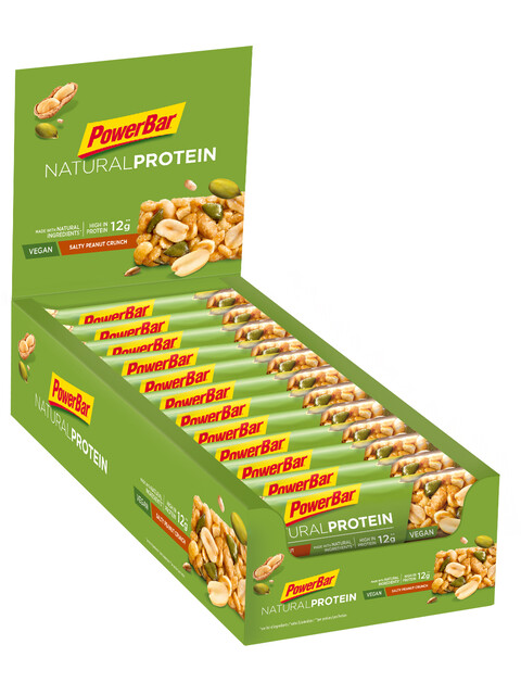 PowerBar Natural Protein Riegel Box Salty Peanut Crunch (Vegan) 24 x 40g